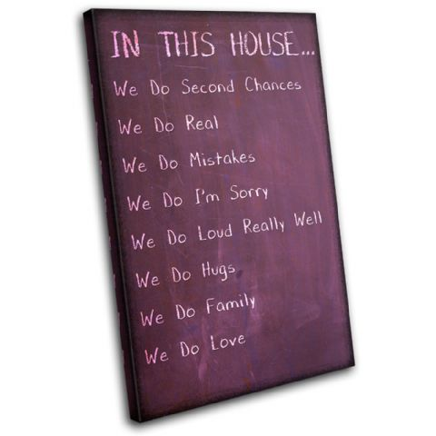Children House Rules Typography - 13-2379(00B)-SG32-PO